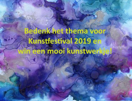 Wat wordt het thema voor het Kunstfestival 2019
